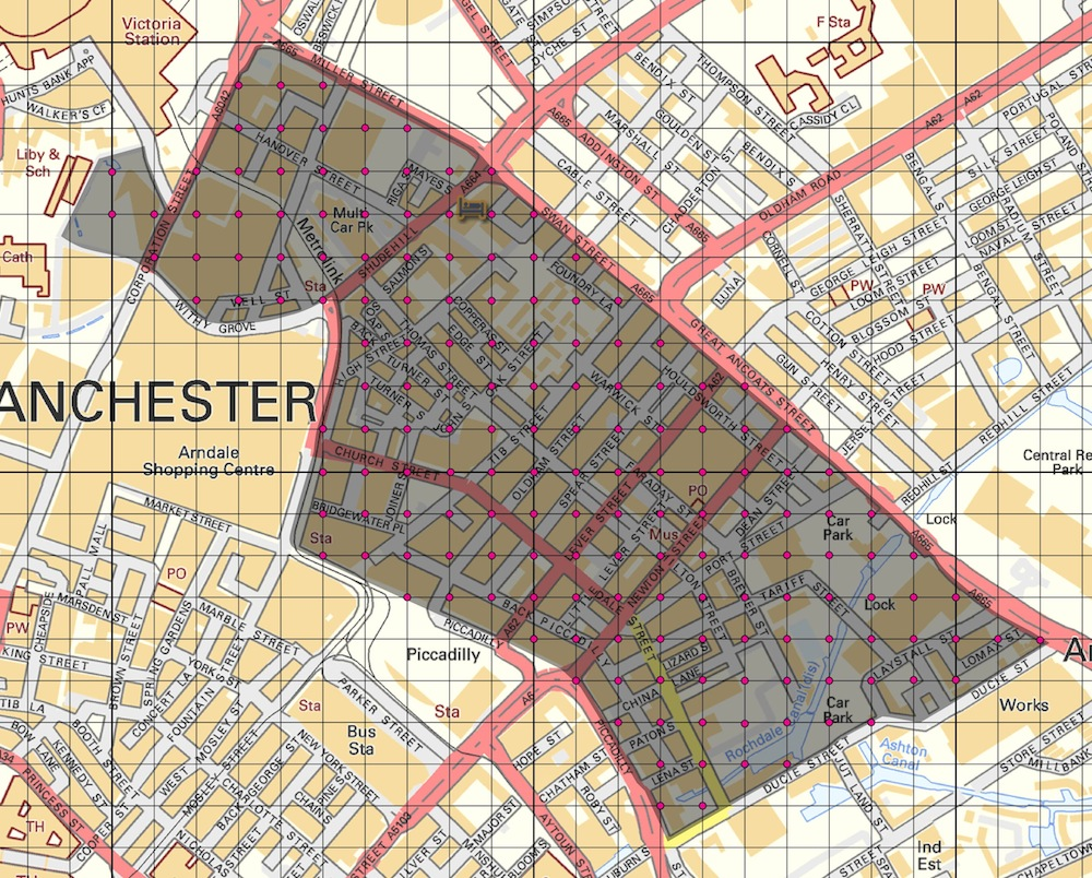 Photographic Grids Northern Quarter After Dark  Redeye